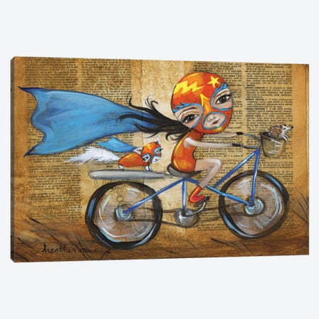 Luchadora Canvas Print #RNX39} by Heather Renaux Art Print