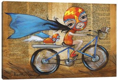 Luchadora Canvas Art Print