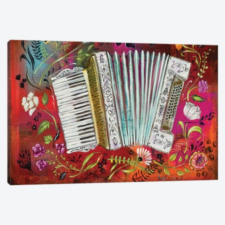 Accordion Love Canvas Print #RNX3} by Heather Renaux Canvas Artwork