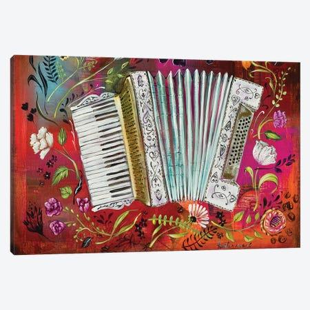 Accordion Love Canvas Print #RNX3} by Heather Renaux Canvas Artwork