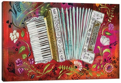 Accordion Love Canvas Art Print
