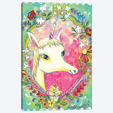 Magical Unicorn Canvas Print #RNX41} by Heather Renaux Canvas Artwork
