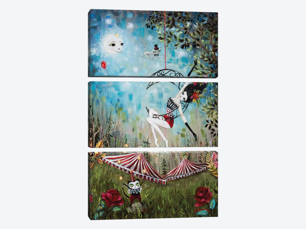 Moonglow by Heather Renaux 3-piece Canvas Print