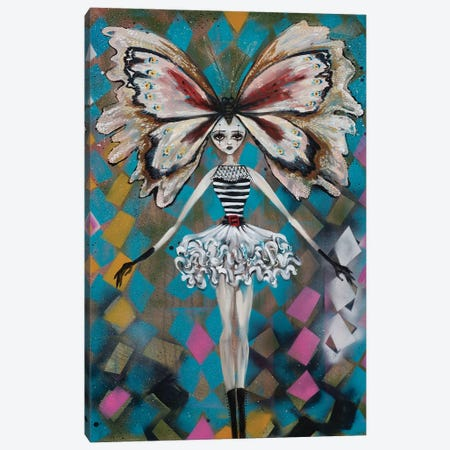 Papillon Du Cirque Canvas Print #RNX52} by Heather Renaux Art Print