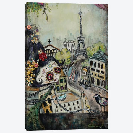 Paris Awaits Canvas Print #RNX53} by Heather Renaux Art Print