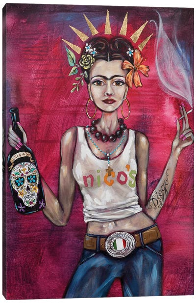 Badass Frida Canvas Art Print