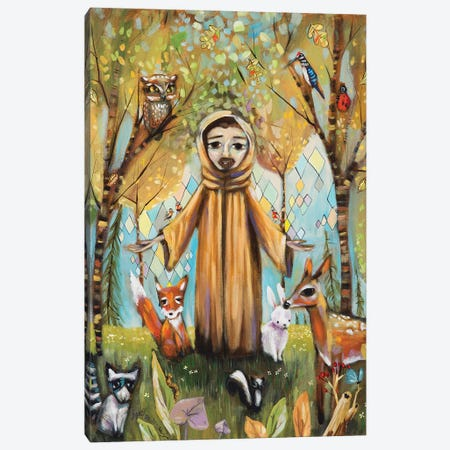 Saint Francis Asisi Canvas Print #RNX63} by Heather Renaux Canvas Art