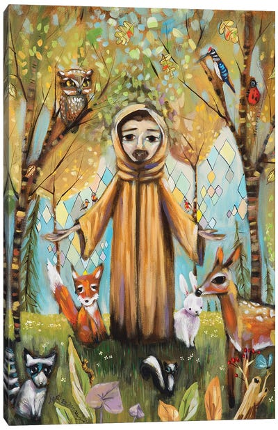 Saint Francis Asisi Canvas Art Print