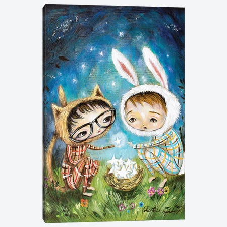 Sharing Stars Canvas Print #RNX65} by Heather Renaux Canvas Art Print