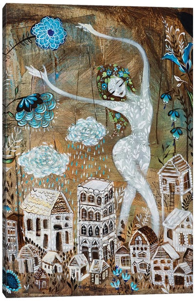 Spring Rain Canvas Art Print