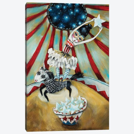 Star Catcher And The Unicorn Canvas Print #RNX72} by Heather Renaux Art Print