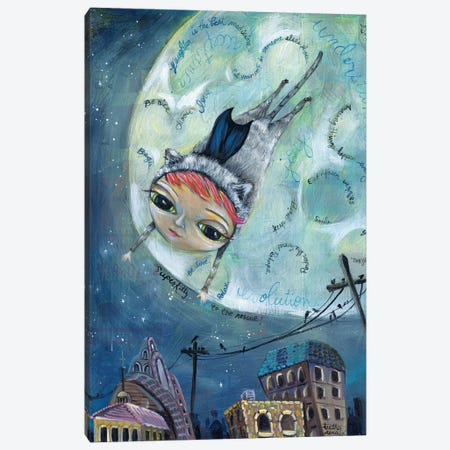 Super Kitty Canvas Print #RNX75} by Heather Renaux Canvas Art