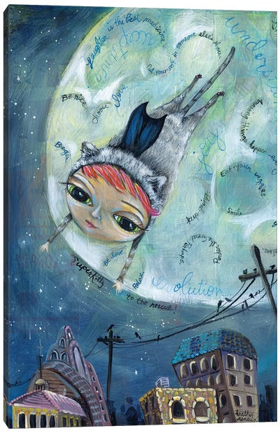 Super Kitty Canvas Art Print
