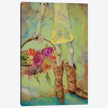 Sweet Boots Canvas Print #RNX76} by Heather Renaux Canvas Artwork