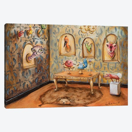 Taxidermists Salon Canvas Print #RNX79} by Heather Renaux Canvas Art Print