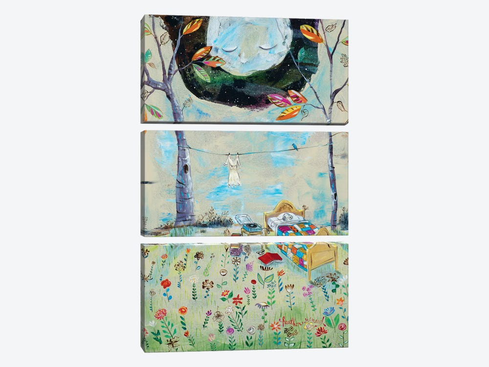 The Bedroom by Heather Renaux 3-piece Canvas Print