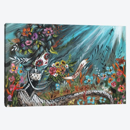 Be Mine Mermaid Canvas Print #RNX8} by Heather Renaux Canvas Wall Art