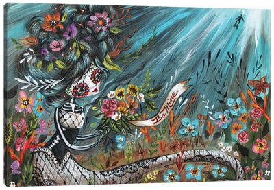 Be Mine Mermaid Canvas Art Print