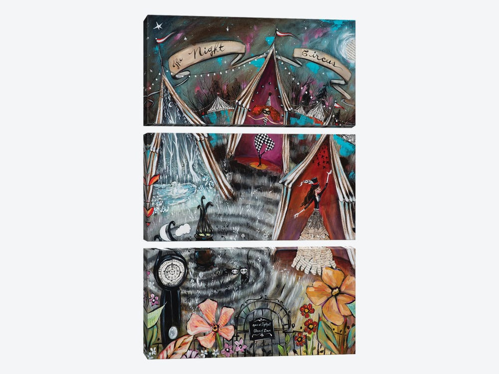 The Night Circus by Heather Renaux 3-piece Canvas Art Print