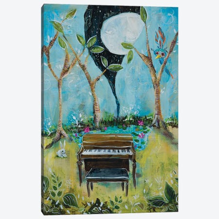 The Piano Canvas Print #RNX91} by Heather Renaux Art Print