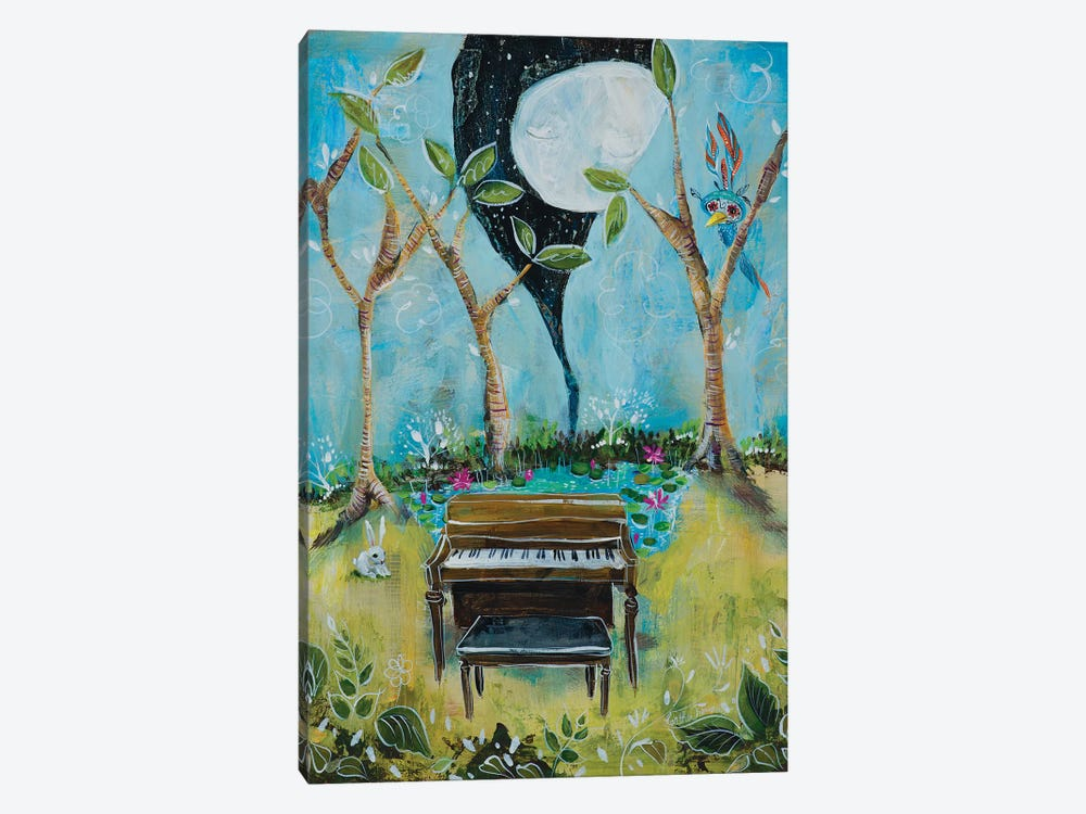 The Piano by Heather Renaux 1-piece Canvas Artwork