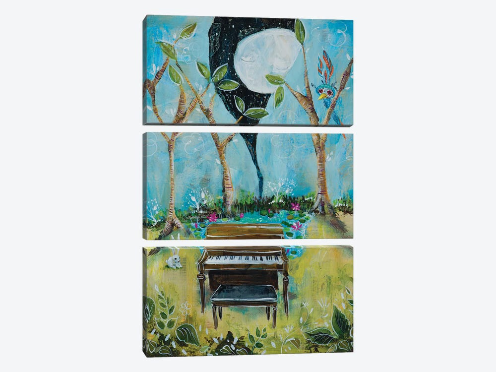 The Piano 3-piece Canvas Art