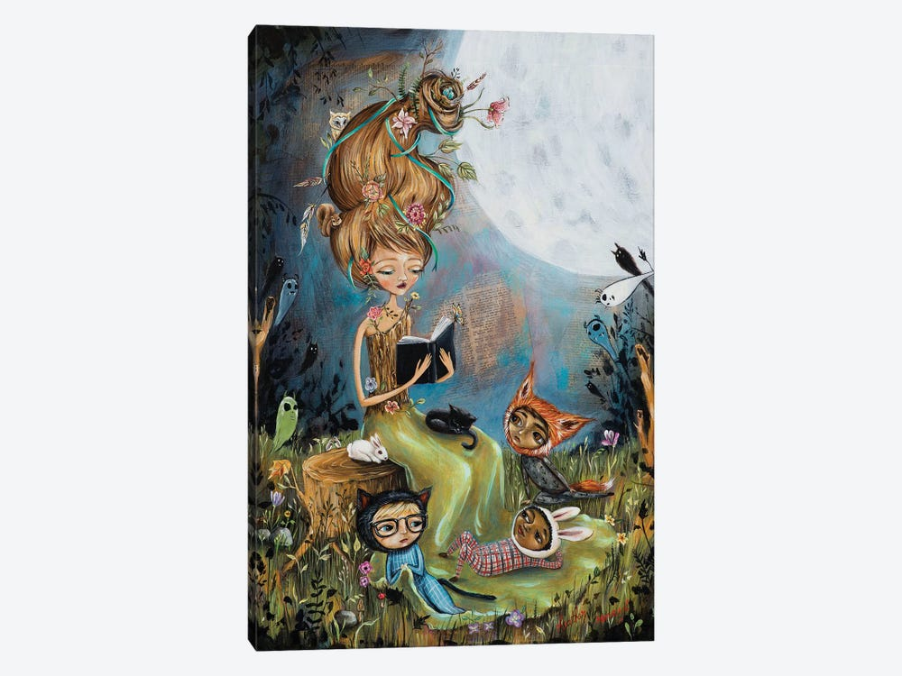 The Reading Stump by Heather Renaux 1-piece Art Print