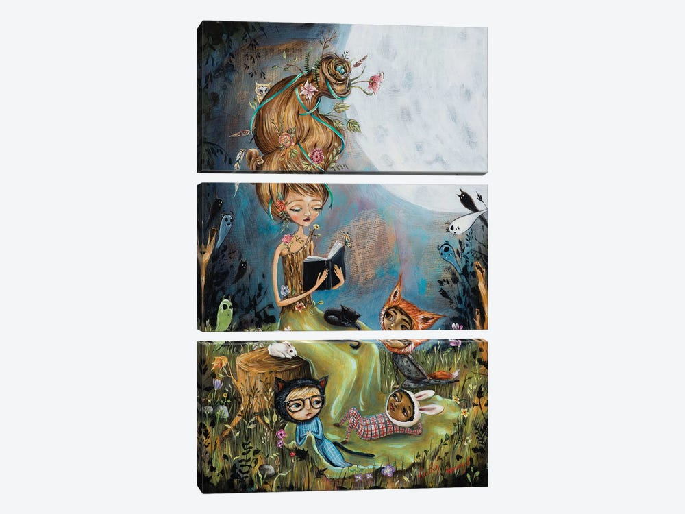 The Reading Stump by Heather Renaux 3-piece Art Print