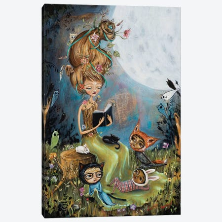 The Reading Stump Canvas Print #RNX92} by Heather Renaux Art Print