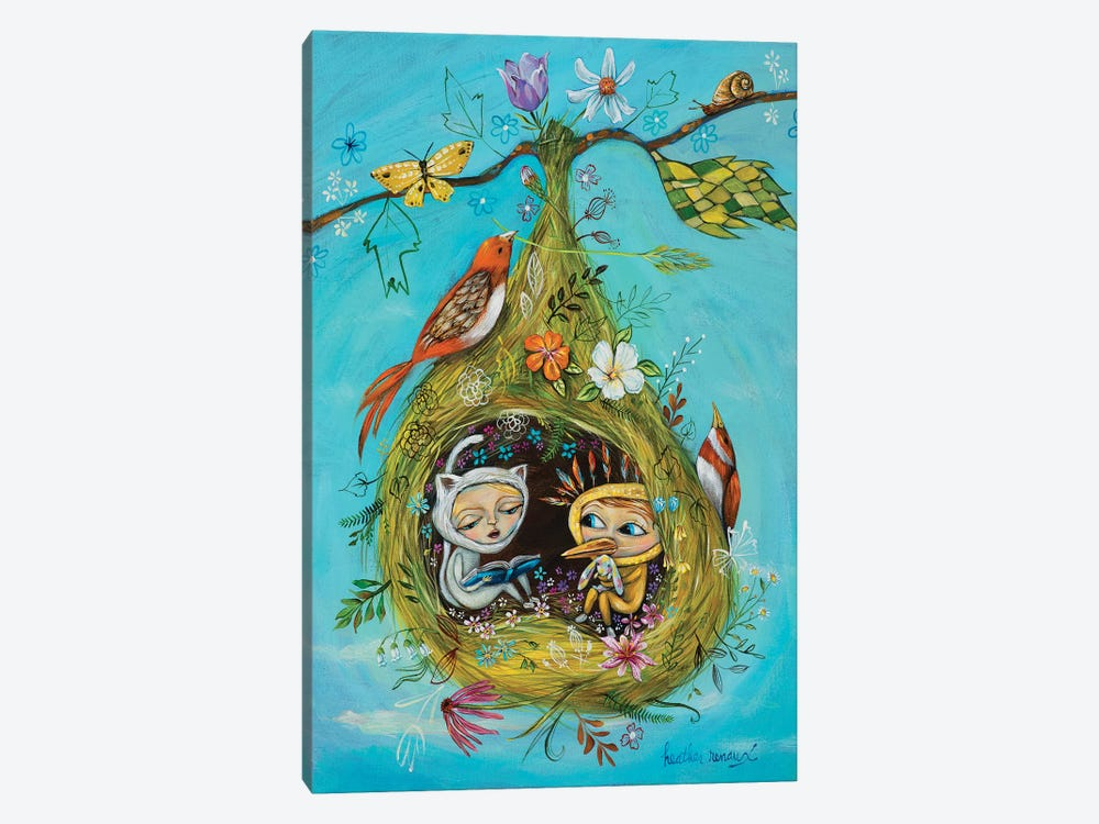 The Story Nest by Heather Renaux 1-piece Canvas Artwork