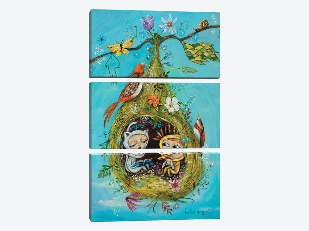 The Story Nest by Heather Renaux 3-piece Canvas Art