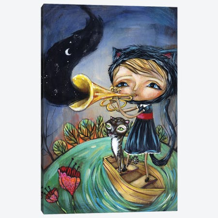 Trumpet Player Canvas Print #RNX94} by Heather Renaux Canvas Wall Art
