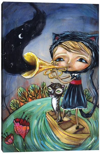 Trumpet Player Canvas Art Print