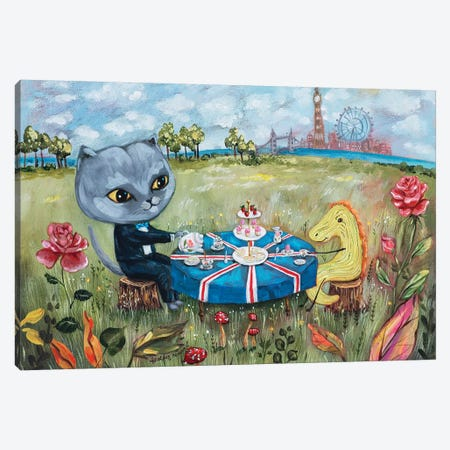 UK Tea Party Canvas Print #RNX96} by Heather Renaux Canvas Artwork