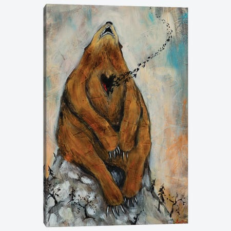 Bear Heart Canvas Print #RNX9} by Heather Renaux Canvas Artwork