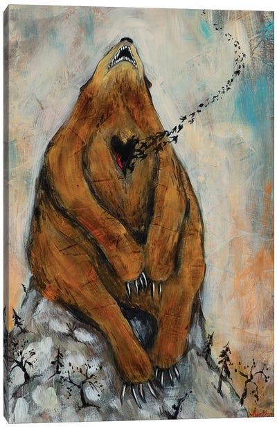 Bear Heart Canvas Art Print