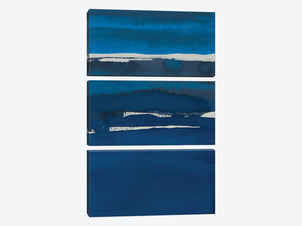 Sapphire Horizon I by Rob Delamater 3-piece Art Print