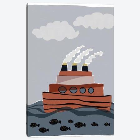 Oceans Ahoy I 3-Piece Canvas #ROB105} by Rob Delamater Canvas Print