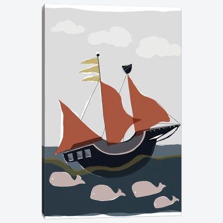 Oceans Ahoy II Canvas Print #ROB106} by Rob Delamater Canvas Print