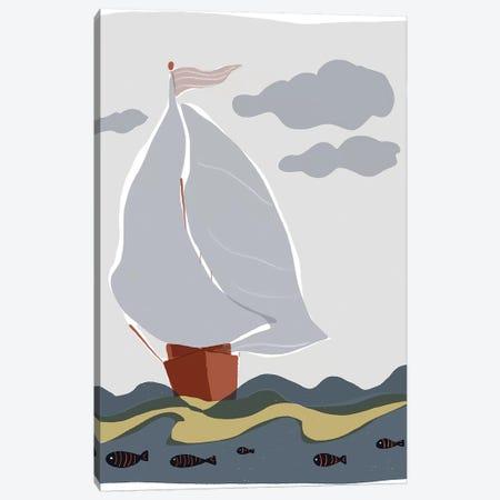 Oceans Ahoy III Canvas Print #ROB107} by Rob Delamater Art Print