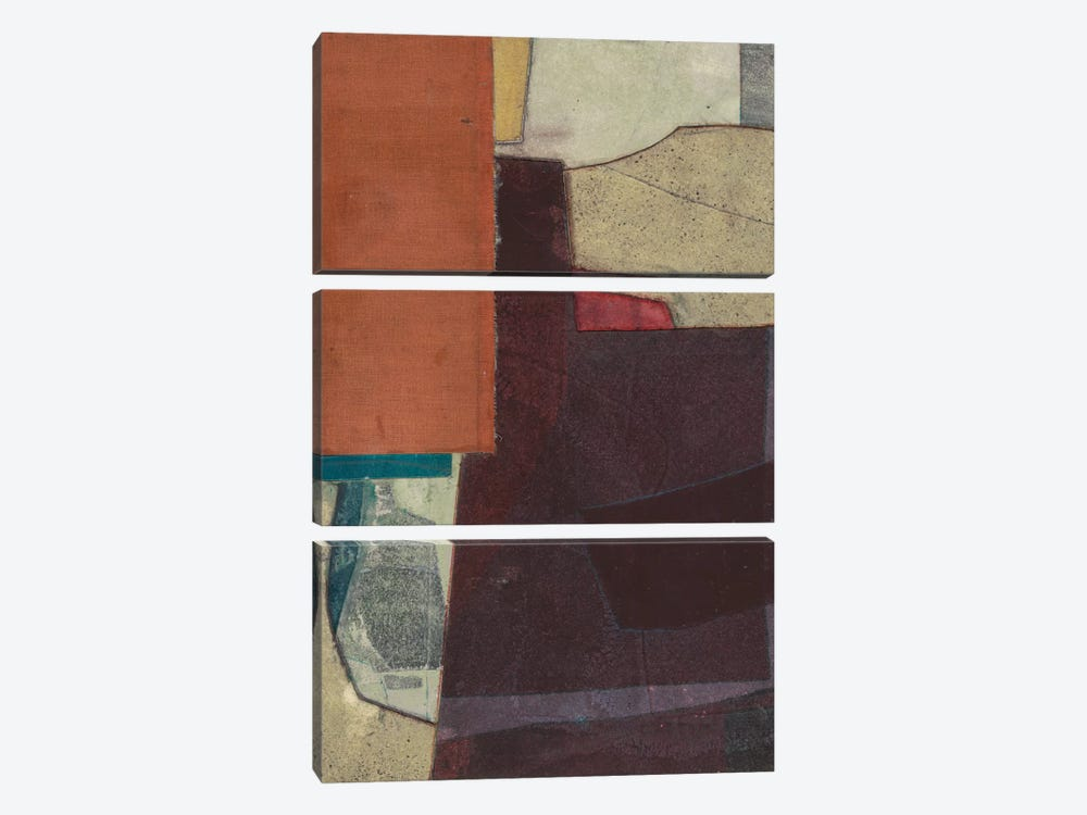 Mid-Century Collage I by Rob Delamater 3-piece Canvas Print