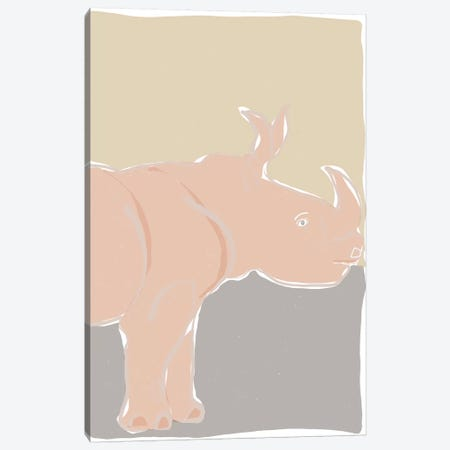 Pastel Zoo I 3-Piece Canvas #ROB124} by Rob Delamater Canvas Art Print
