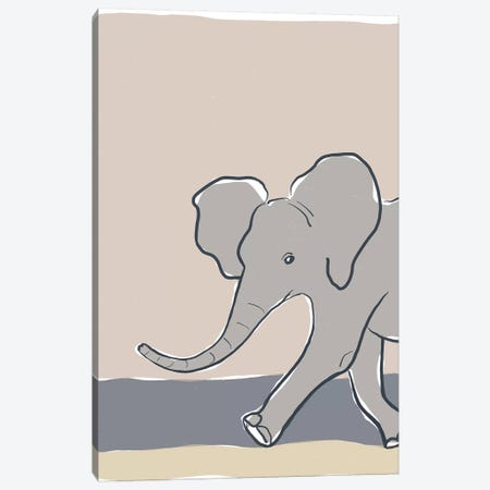 Pastel Zoo III Canvas Print #ROB126} by Rob Delamater Canvas Print