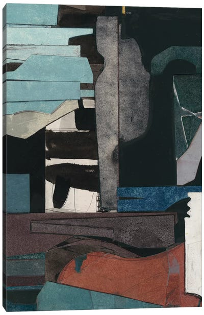 Mid-Century Collage III Canvas Art Print