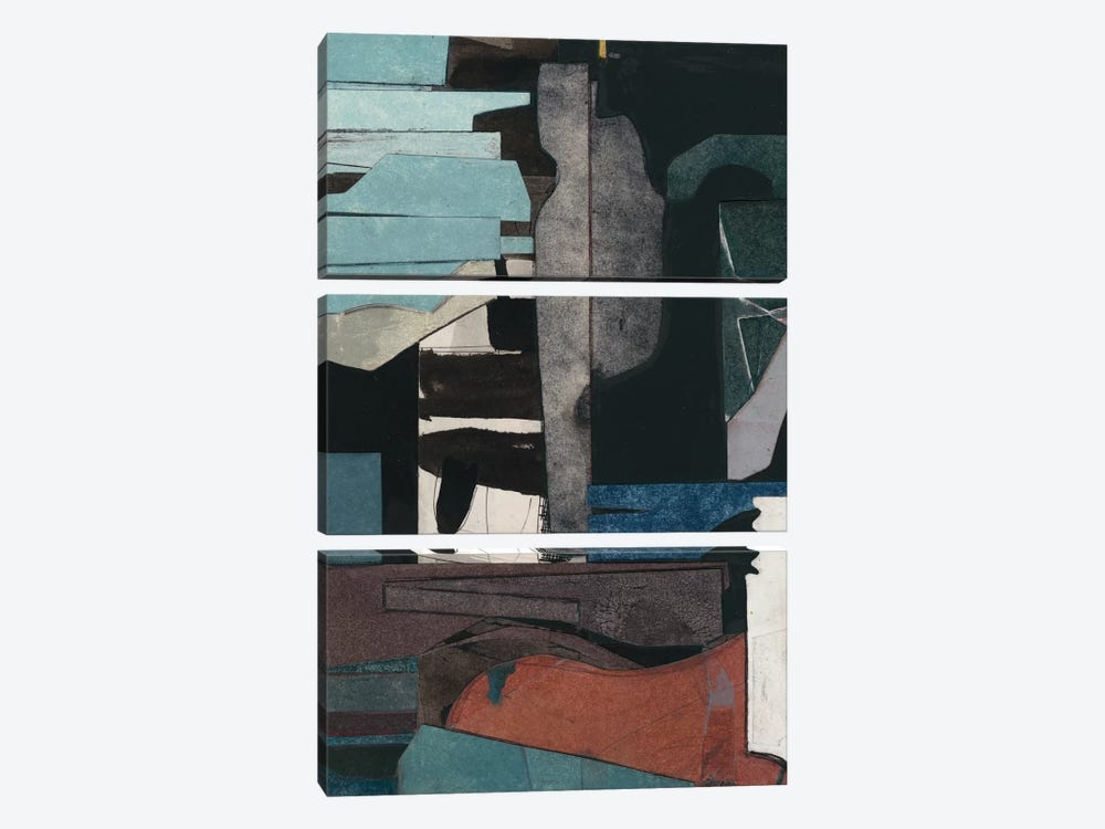 Mid-Century Collage III by Rob Delamater 3-piece Canvas Art Print