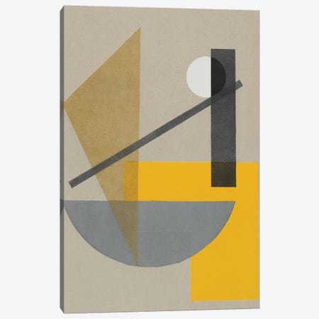 Homage to Bauhaus VII Canvas Print #ROB149} by Rob Delamater Canvas Artwork