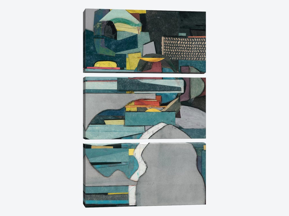 Mid-Century Collage IV by Rob Delamater 3-piece Canvas Artwork
