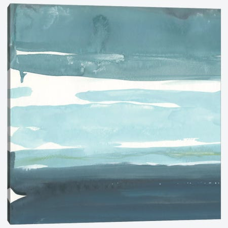 Teal Horizon I Canvas Print #ROB16} by Rob Delamater Art Print