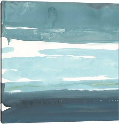 Teal Horizon I Canvas Art Print