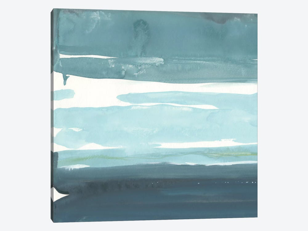 Teal Horizon I by Rob Delamater 1-piece Canvas Wall Art